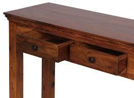 Schreibtisch 40 Tief Finebuy Konsolentisch Massivholz Konsole Mit 2 Schubladen
