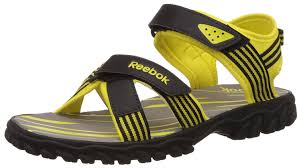 reebok men u0027s road connect black and yellow sandals and floaters