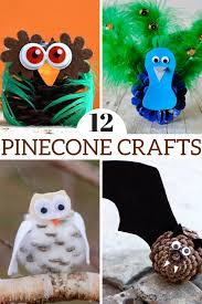 12 fun pinecone crafts to make this fall sunshine and rollercoasters