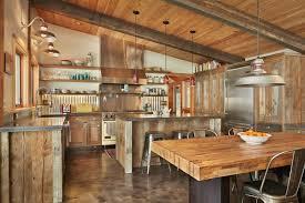cuisines rustiques cuisine rustique contemporaine 50 idées de meubles en bois