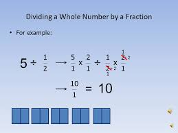 dividing a whole number by a fraction dividing fractions by greg stark ppt