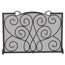 interesting white stained wrought iron fireplace design featuring