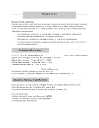 Phlebotomist Resume Example by Student Optician Resume Optician Cover Letter Optician Resumes