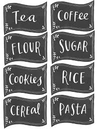 kitchen canister labels free pantry labels fab n free