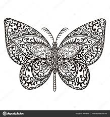 butterfly animals hand drawn doodle insect ethnic patterned