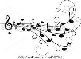notas musical vetor faça busca em clip art ilustração