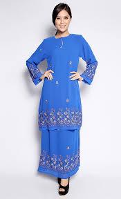 baju kurung modern untuk remaja sulam kurung in royal blue fashionvalet