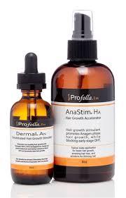 natural hair growth stimulants profolla anastim ha and dermal an kit complete hair growth kit