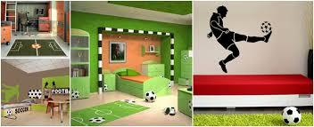 theme de chambre exemple pour une surprenante décoration chambre thème football