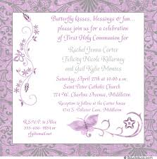 holy communion invitations butterfly communion invitation event damask patterned pink