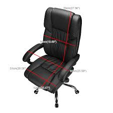 executive office chair reclining high back leather swivel computer