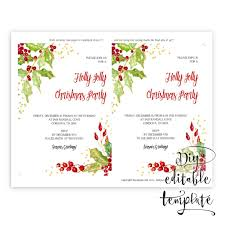 printable christmas party invitation template for word in 5x7