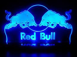 advertising red bull racing energy drink led desk lamp night light
