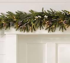 Pottery Barn Evergreen Walk Lit Frozen Pine Garland Christmas Pinterest Pine Garland