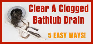 How To Unclog A Bathtub Drain Full Of Hair 5 Ways To Clear A Clogged Bathtub Drain Removeandreplace Com