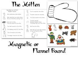 the mitten flannel board felt board magnetic board pattern