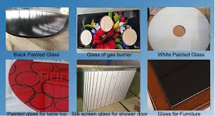 Glass For Table Tops Custom Colored Tempered Silk Screen Printing Glass For Table Top