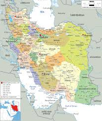 Political Maps Detailed Clear Large Map Of Iran Ezilon Maps