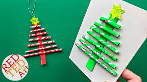 diy paper straw tree ornament card diy easy