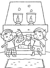 6 christmas stocking coloring pages merry christmas