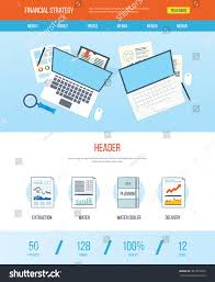 one page web design template icons stock vector 401207032