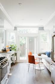 White Breakfast Nook Amazing White Kitchen Idea Galley Interior With Window Seat And