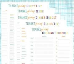 free thanksgiving planner printables my frugal adventures