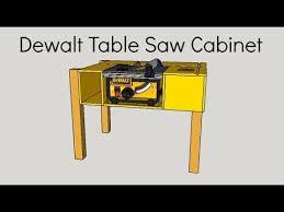 dewalt table saw rip fence extension diy dewalt table saw cabinet izzy swan youtube