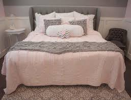 best ideas about gray bedding bed with light pink and grey bedroom