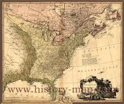 United States Map Poster by The United States After The Revolutionary War