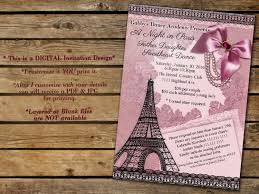 a night in paris paris invitations paris themed party