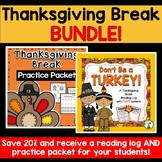 thanksgiving reading log by primarily a to z tpt