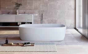 Freestanding Air Tub Aquatica Coletta White Freestanding Solid Surface Bathtub
