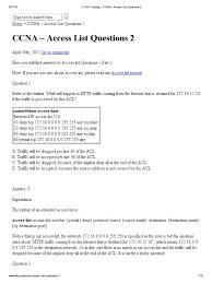 ccna training ccna u2013 access list questions 2 cisco