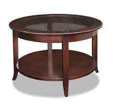 low glass top coffee table furniture leick varnished wood small round coffee table with glass