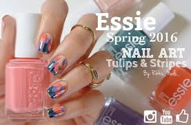 spring flowers nail art featuring essie 2016 spring collection