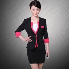 Front Desk Attendant And Autumn Female Flight Attendants Hotel Uniforms Beautician