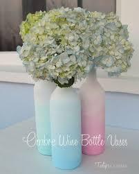 Diy Wine Bottle Vases Best 25 Wine Bottle Vases Ideas On Pinterest Wine Bottle