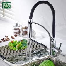 Kitchen Faucet Black Kitchen Faucet Black And Chrome Pull Out 360 Degree Rotating