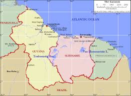 guyana on world map the afghan muslims of guyana and suriname