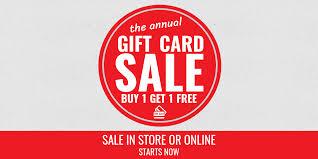 gift card sale splash bucks gift cards annual fall sale buy 1 get 1 free