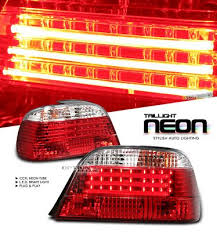 e38 euro tail lights bmw e38 7 series 1995 2001 red and clear neon tube led tail lights