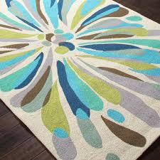 Outdoor Rug Turquoise by Jaipur Rugs Colours Flowerburst 2 X 3 Indoor Outdoor Rug Blue