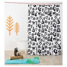 Vintage Mermaid Shower Curtain - forest friends shower curtain black pillowfort target