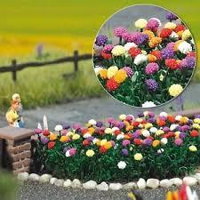 oo ho flower garden scenery kit 120 dahlias plants busch 1219