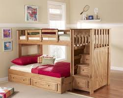 Woody Creek Twin Full Stairway Bunk Bed Bunk Bed With Stairs - Stairs for bunk beds