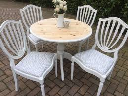 Laura Ashley Outdoor Furniture by Gorgeous Shabby Chic Pine Table 4 Chairs Annie Sloan Paint Laura