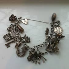 solid silver charm bracelet images Bracelet archives vintage collectables jpg