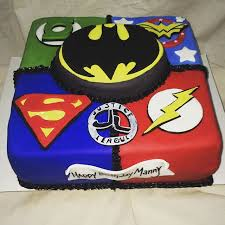 justice league cake scarlett u0027s superhero trunk or treat