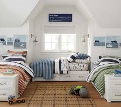 Pottery Barn Twin Bed 16 Clever Ways To Fit Three Kids In One Bedroom Boys Bedroom